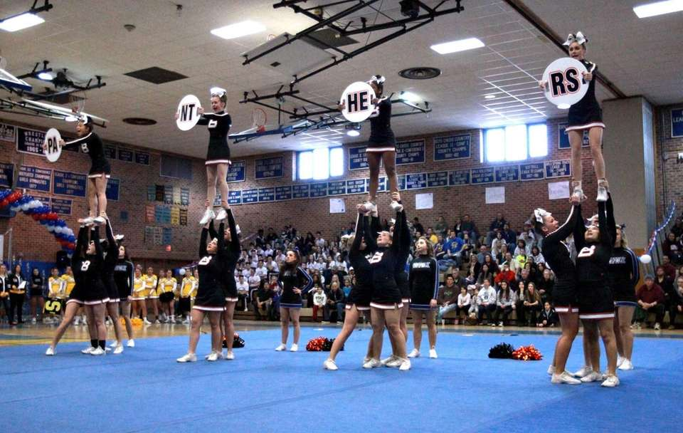 The Babylon High School medium varsity squad spells