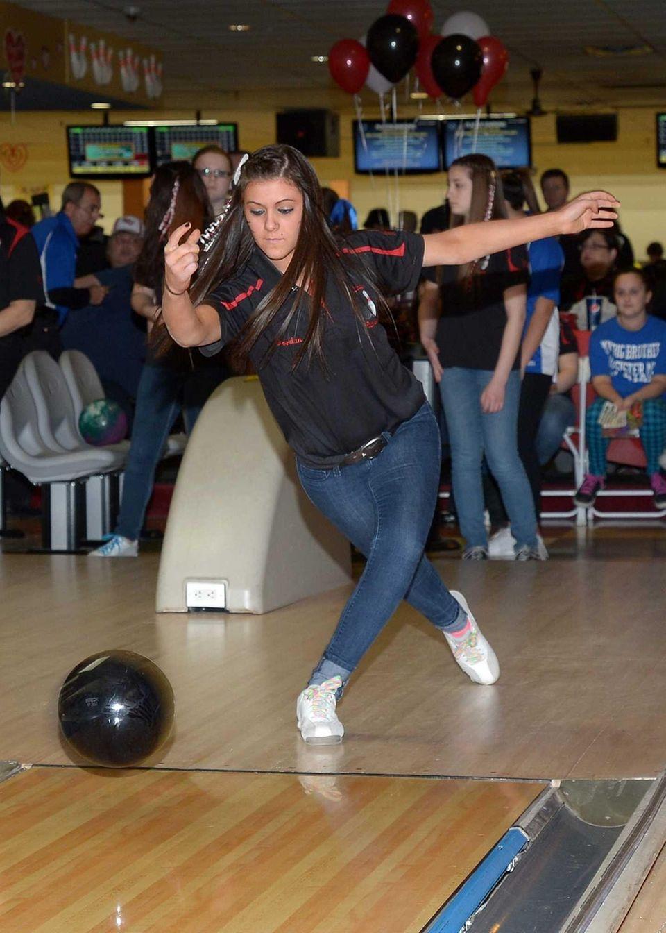 East Islip's Jordan Kruger releases the ball during