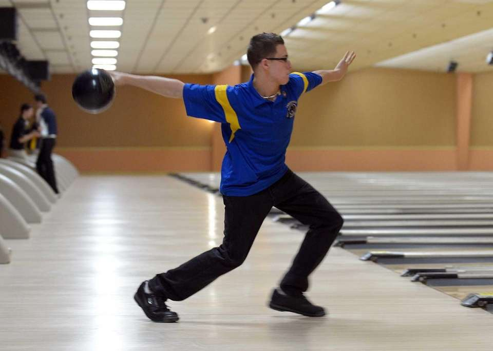 Nick Eckert of Comsewogue brings the ball up