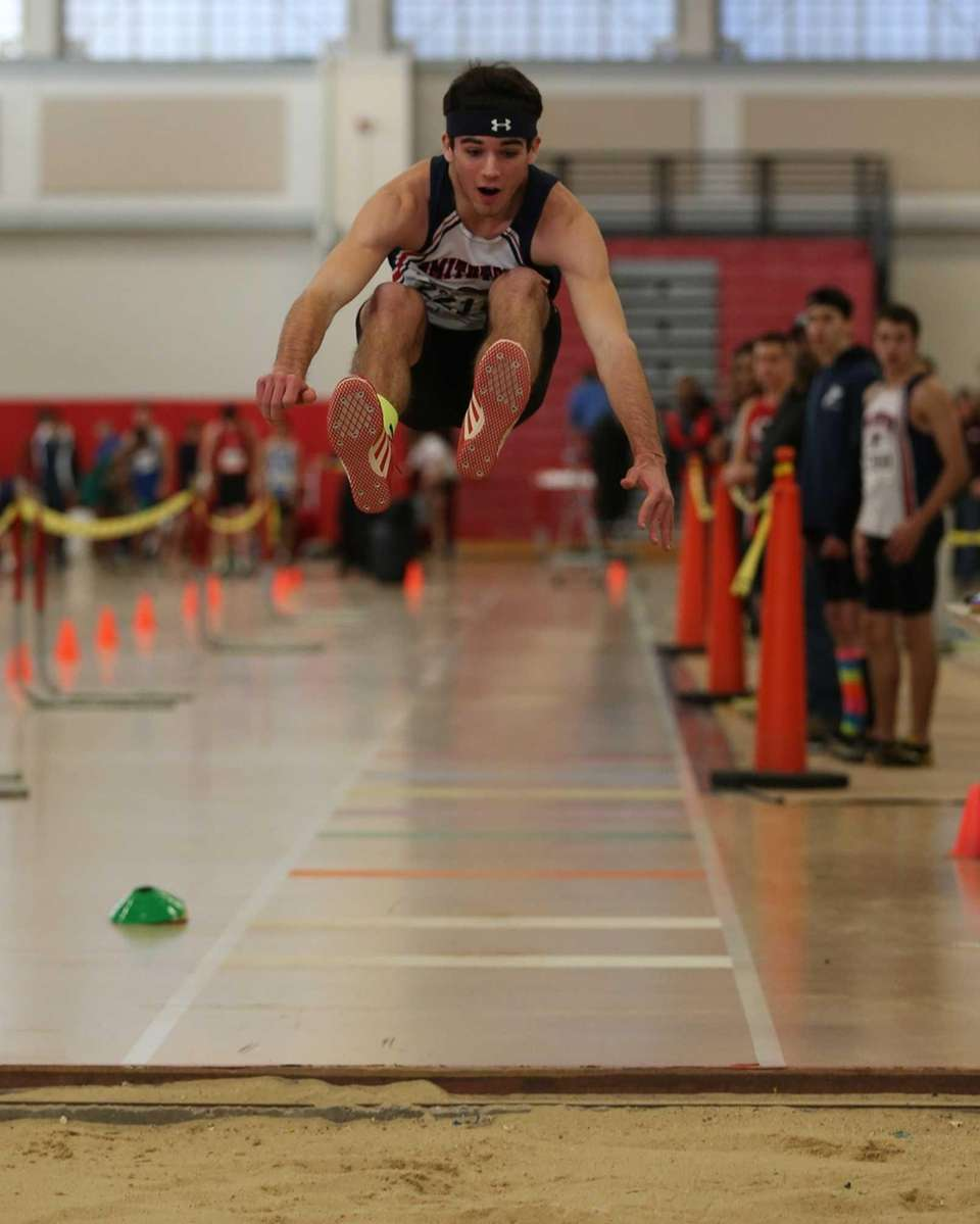 Michael McCann of Smithtown West competes in the