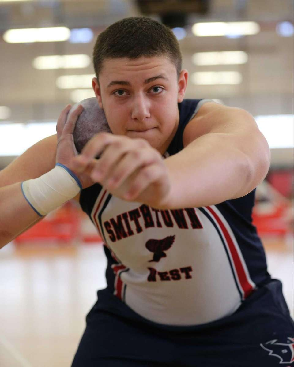 Smithtown West's Ben Bonhurst prepares to throw the