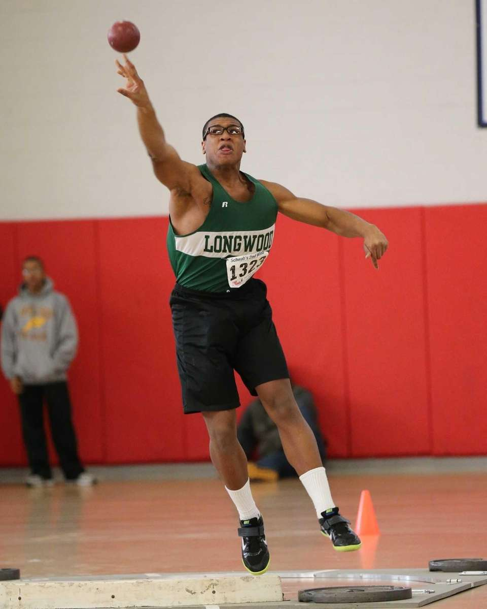 Longwood shot putter Dennis Russell takes second place