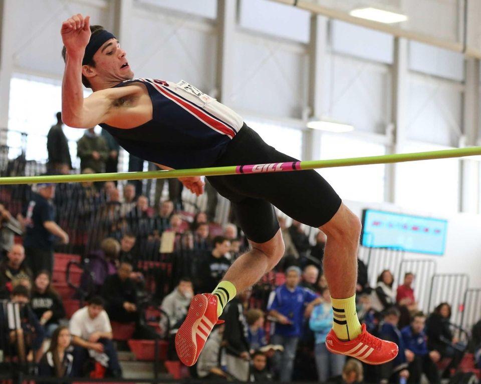 Smithtown West's Michael McCann wins the high jump