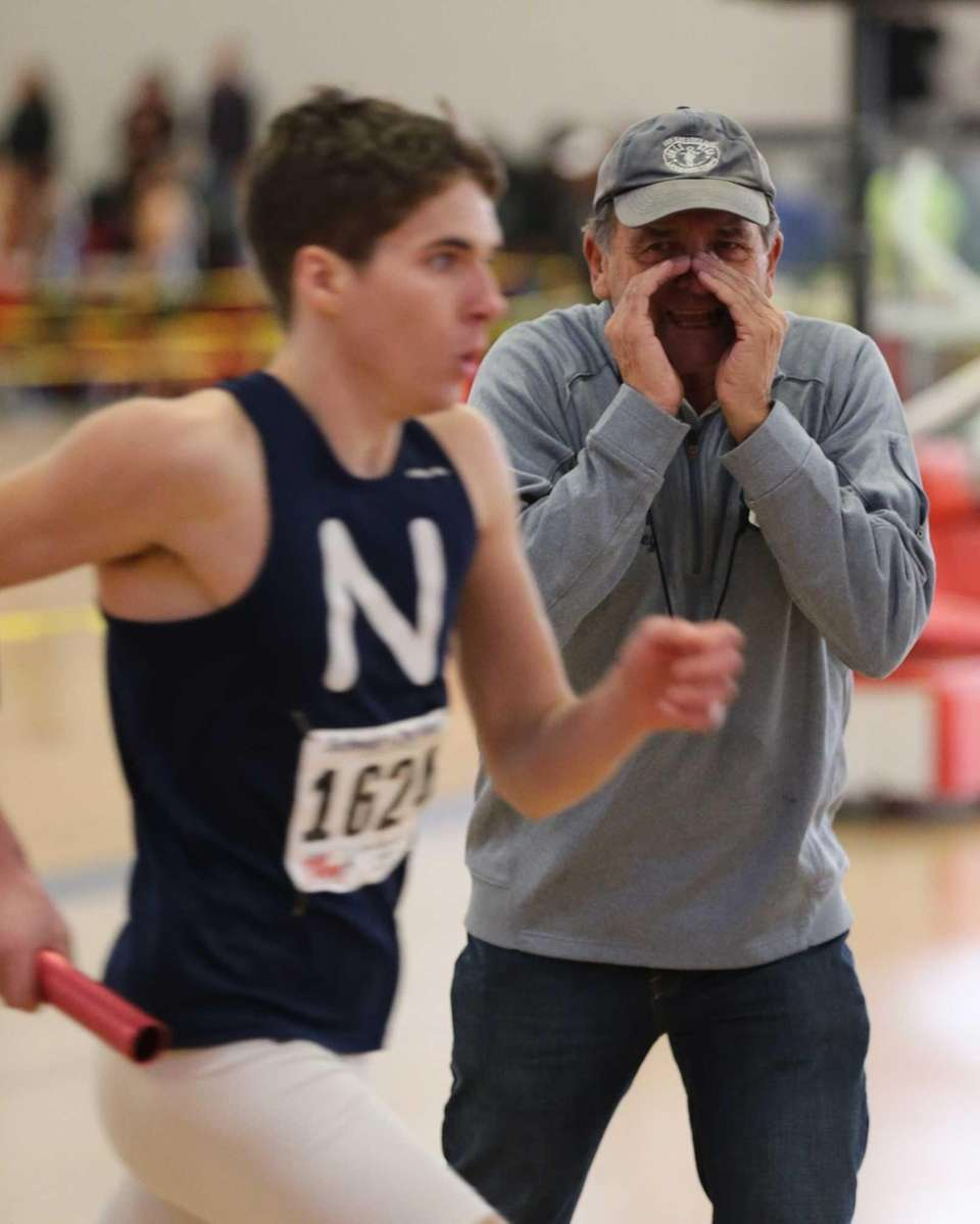 Northport coach Bob Burkley encourages Chris Odin in