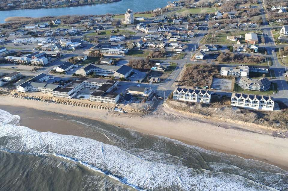 These motels in downtown Montauk face serious erosion