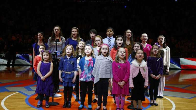 The Newtown, Conn., town choir performs the national