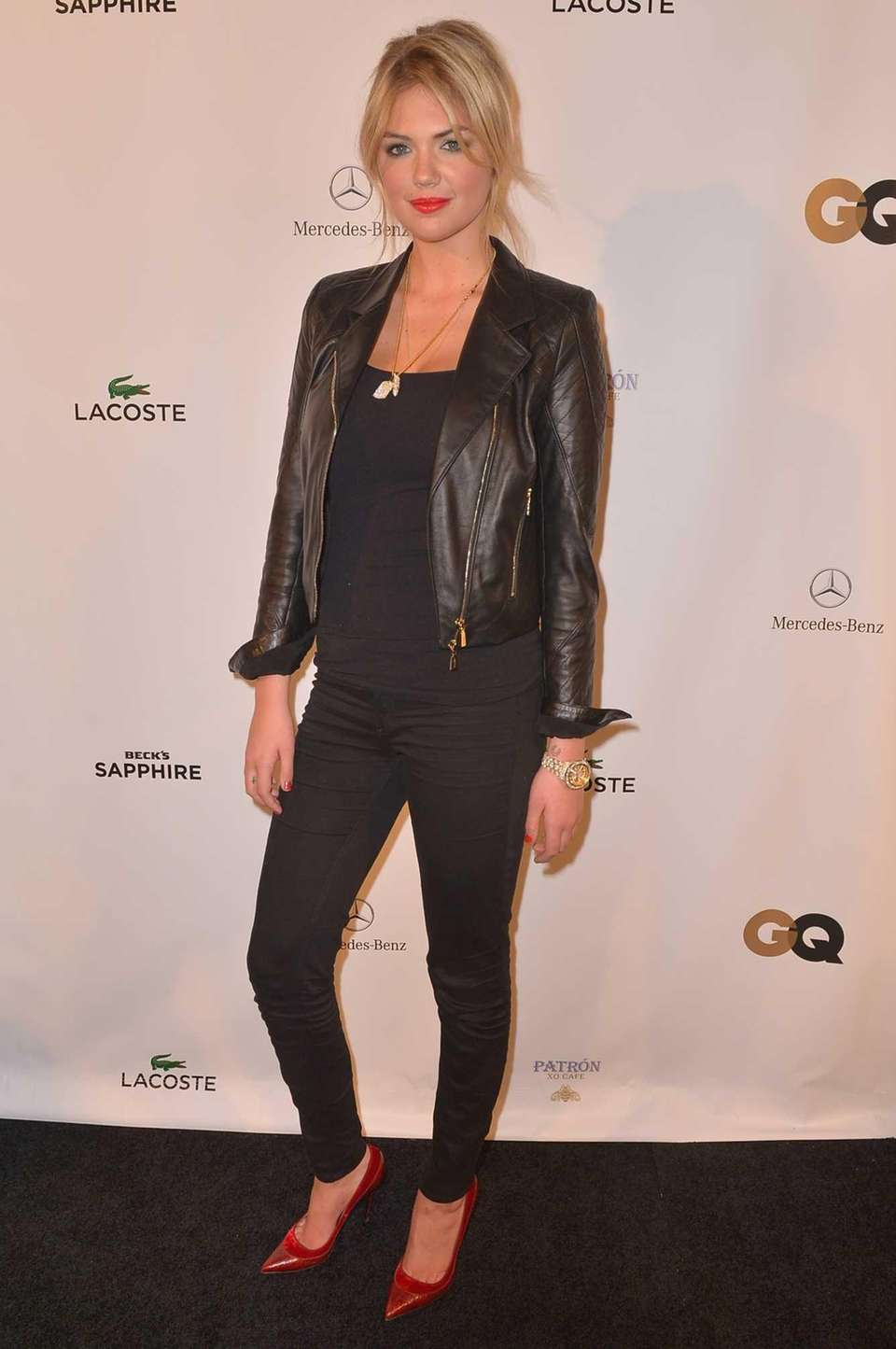 Kate Upton attends the Lacoste/GQ Super Bowl Party