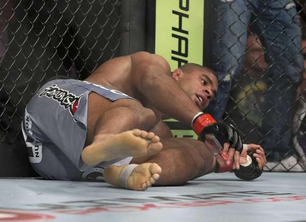 Alistair Overeem is sent to the mat by