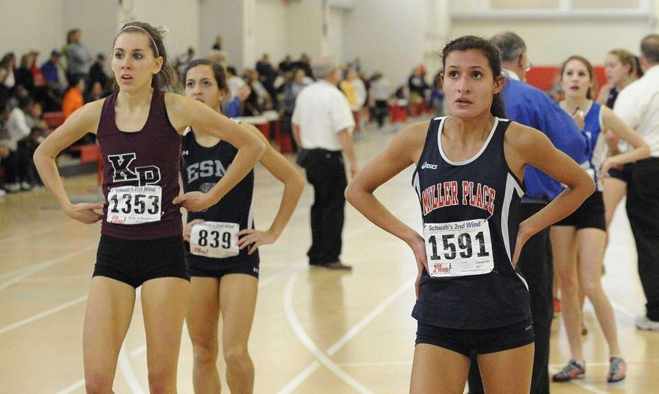 Miller Place's Tiana Guevara and Kings Park's Kathleen