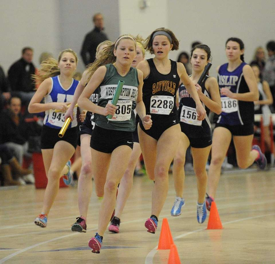 Westhampton Beach's Stephanie Vickers leads the pack in