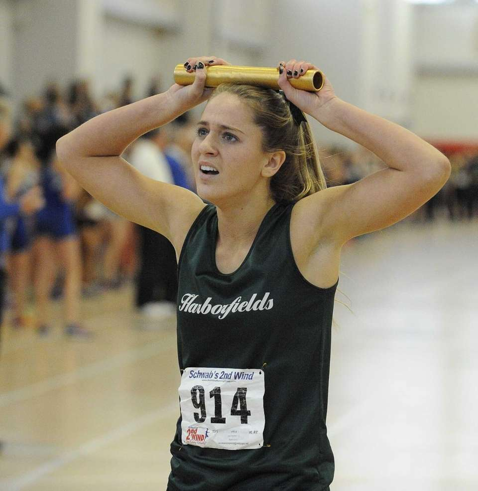 Harborfields' Ana Herbert catches her breath at the