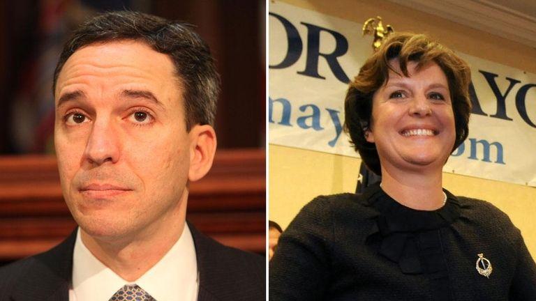 Left: New York State Senator Jack Martins is