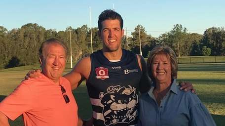 Alex Aurrichio, with his father, Lou, and mother,