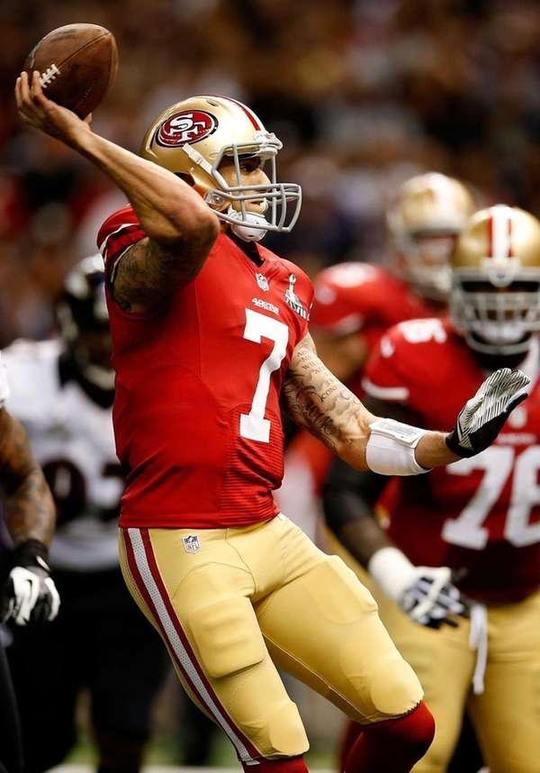 Colin Kaepernick #7 of the San Francisco 49ers