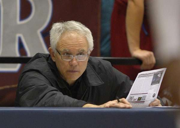 Los Angeles Lakers general manager Mitch Kupchak watches
