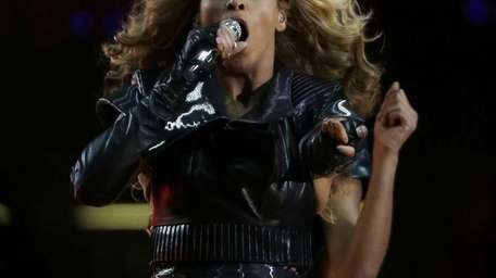 Beyonce performs during the halftime show of the