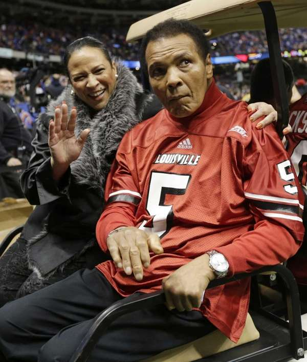 Former boxing legend Muhammad Ali arrives at the