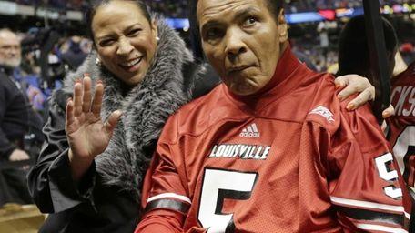 Former boxing legend Muhammad Ali arrives at the