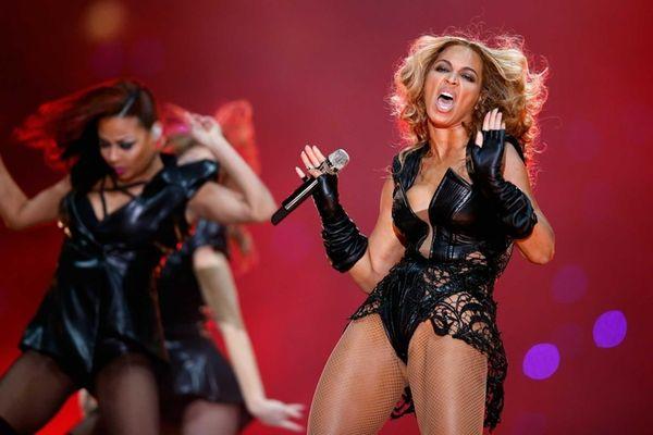 Singer Beyonce performs during the Pepsi Super Bowl