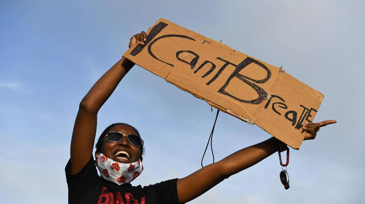Protests against police brutality continued across Long Island.