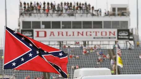 NASCAR announced Wednesday it's banning Confederate flags, such