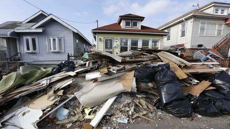 Rockaway homes damaged by superstorm Sandy. (Dec. 25,