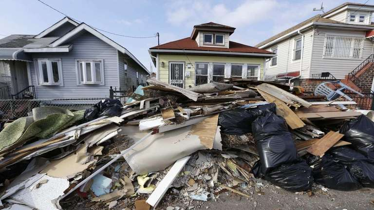 Rockaway homes damaged by superstorm Sandy. (Dec. 25,