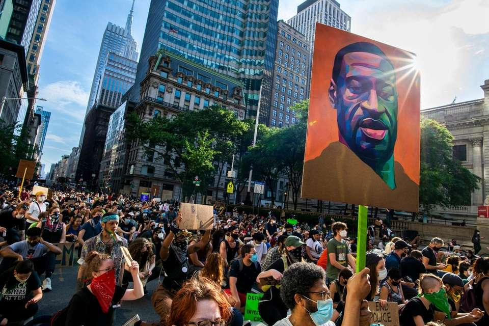 A Black Lives Matter protest marches from Washington
