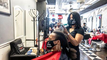 Natashia Jeré, owner of Jeré Hair in Freeport,