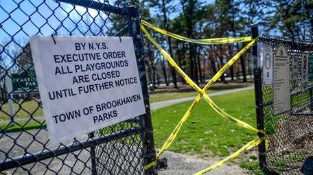 All playgrounds including Strathford Park in Stony Brook