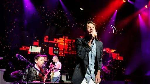 Nate Ruess of the band fun. performs at