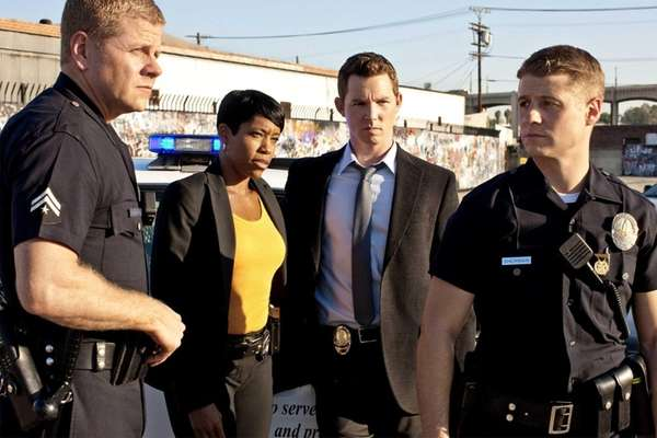 From left, Michael Cudlitz, Regina King, Shawn Hatosy