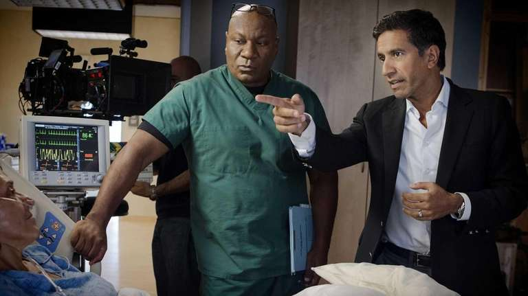 Ving Rhames as Dr. Jorge Villanueva, left, and