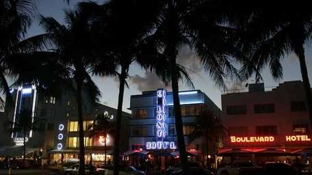 Art Deco buildings grace the famous Ocean Drive