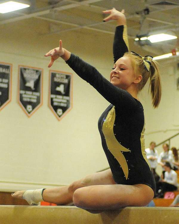 Wantagh senior Brianna Quinn performs on the balance