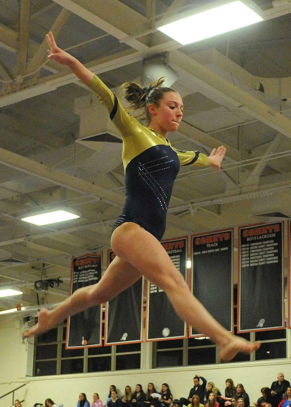 Jamie Kaletcher of Bethpage performs on the balance