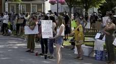 A June 2020 protest  in Oyster Bay