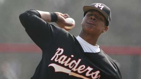 Patchogue-Medford's Marcus Stroman pitches against Ward Melville on