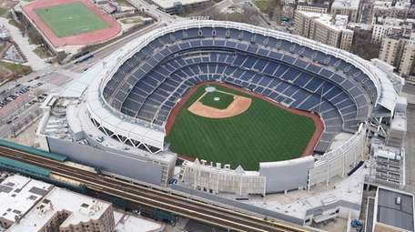 Aerial view of Yankee Stadium on March 25,