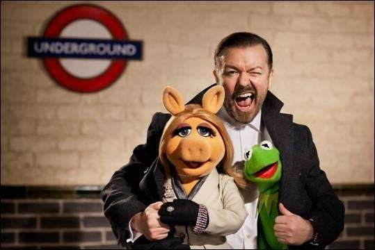 Ricky Gervais will star in the upcoming Muppets