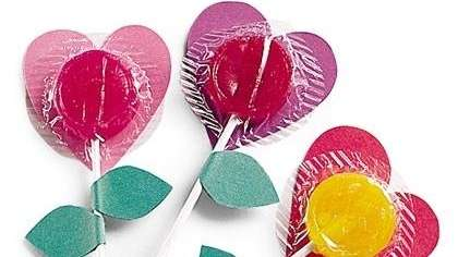 The lollipop flower Valentines can be found on