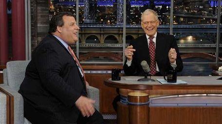 Gov. Chris Christie told David Letterman that he
