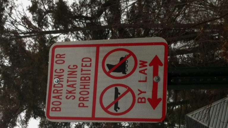 Twelve signs like this one on Fairview Road