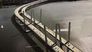 A rendering of the new Tappan Zee Bridge