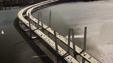 A rendering of the new Tappan Zee Bridge