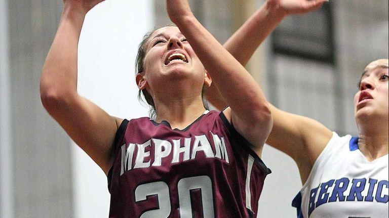 Mepham's Nicole Castaldo goes up for a layup