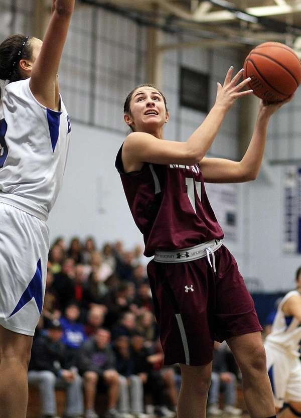 Mepham's Samantha Hismeh goes up for a layup