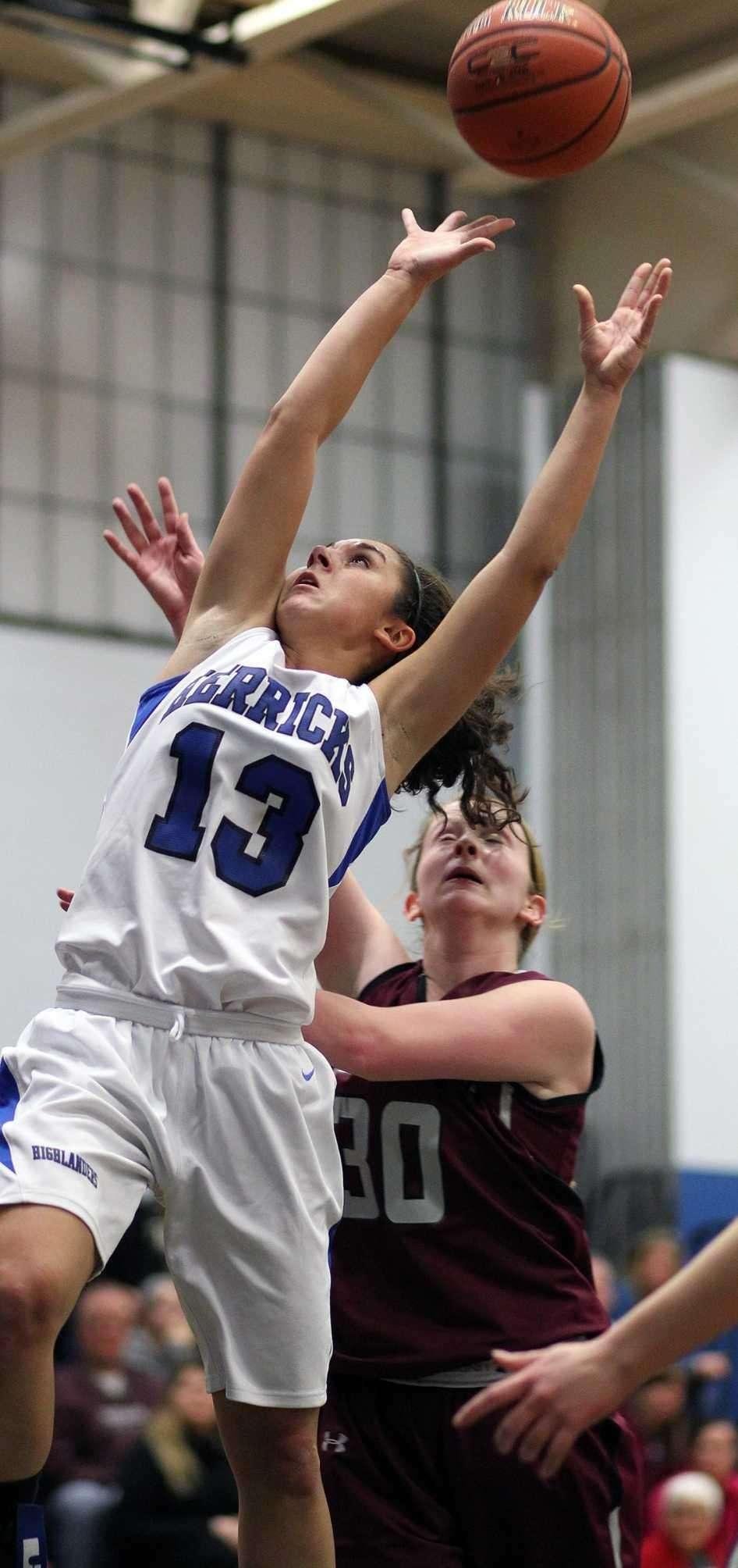 Herricks' Erin Rivera goes up for a rebound
