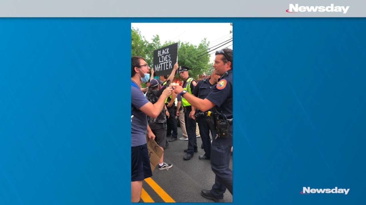 A video recording of Nassau County police arresting