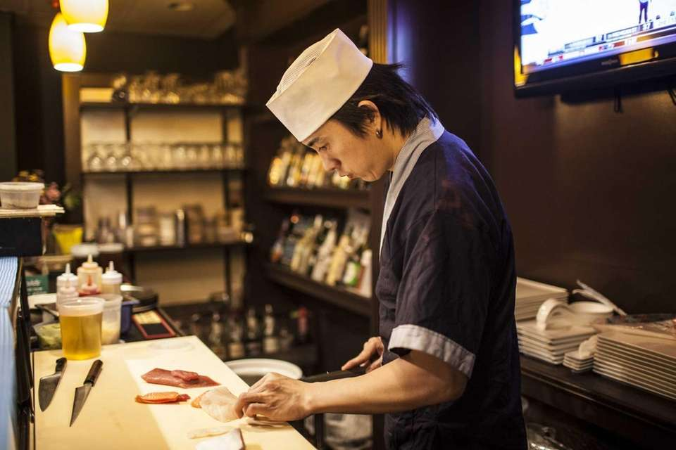 Mermaid Asian Bistro and Bar's sushi chef Tom